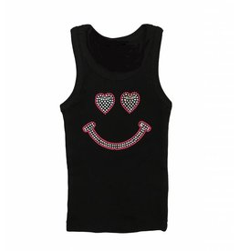 Small Change Rhinestone Smiley Face Tank