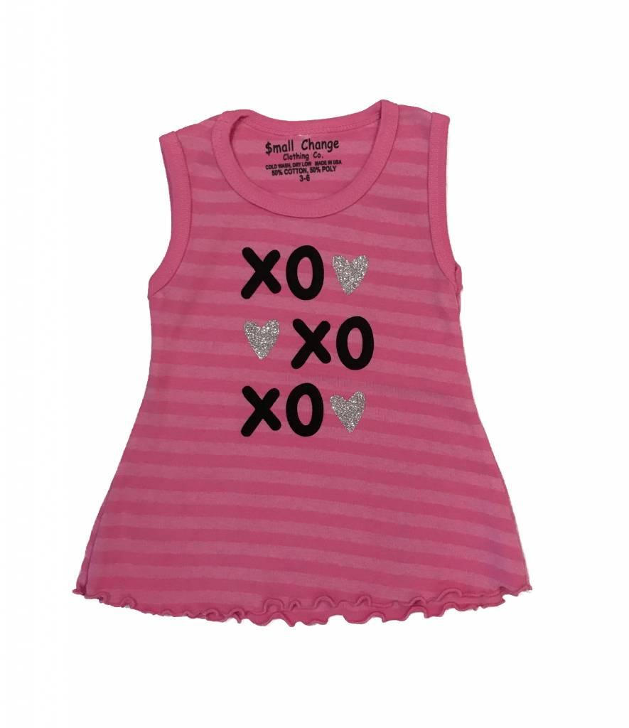Small Change Stripe XO Heart Tunic