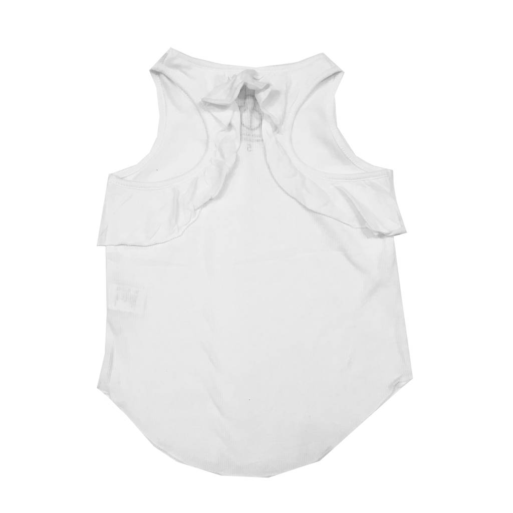 Chaser Ribbed Ruffle Back Racer Tank