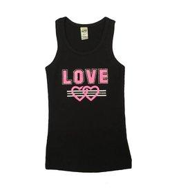 Neon Pink Glitter Love Tank