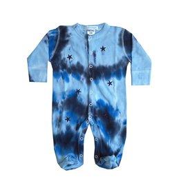 Baby Steps Tie Dye Stars Footie