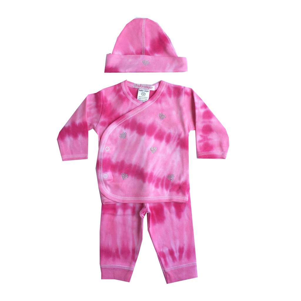 Baby Steps Tie Dye Hearts 3pc Take-Home Set