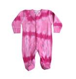 Baby Steps Tie Dye Hearts Footie
