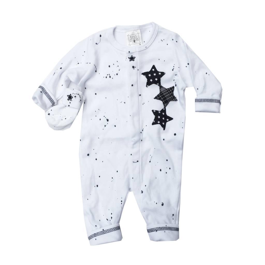 Too Sweet Black Splatter Triple Star Outfit