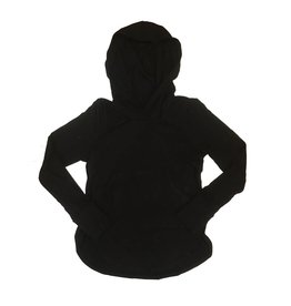 Terez Hooded Jersey Top with Thumbholes