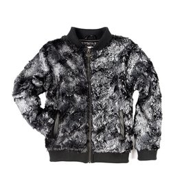 Appaman Metallic Faux Fur Bomber Jacket