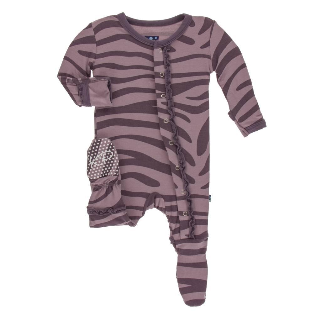 Kickee Pants Zebra Ruffle Footie