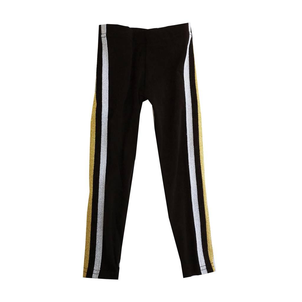 Dori Creations Gold & Silver Sports Stripe Legging