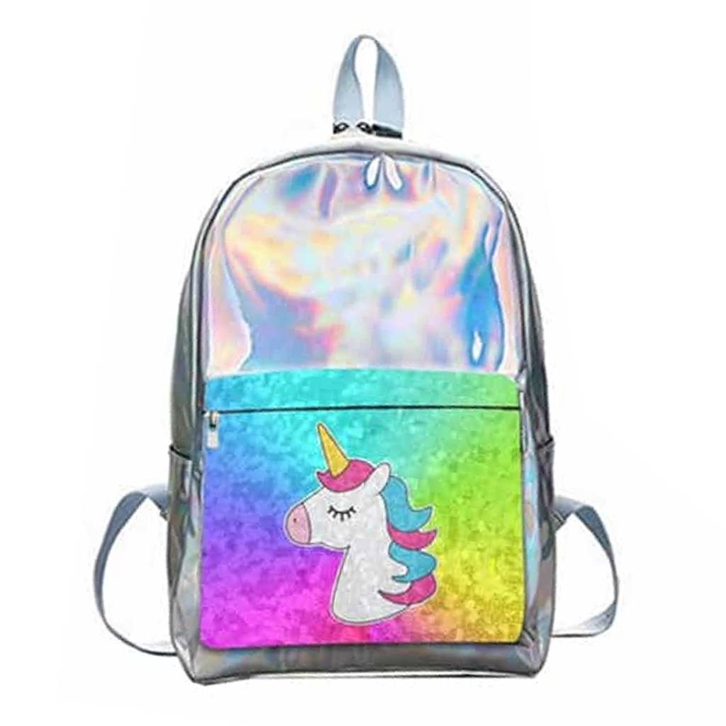 Silver Unicorn Reverse Sequin Backpack
