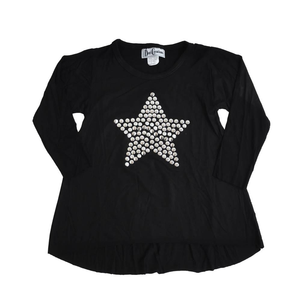 Dori Creations Silver Studded Star Top