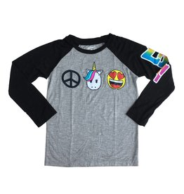 Flowers by Zoe Peace Unicorn Baseball Top