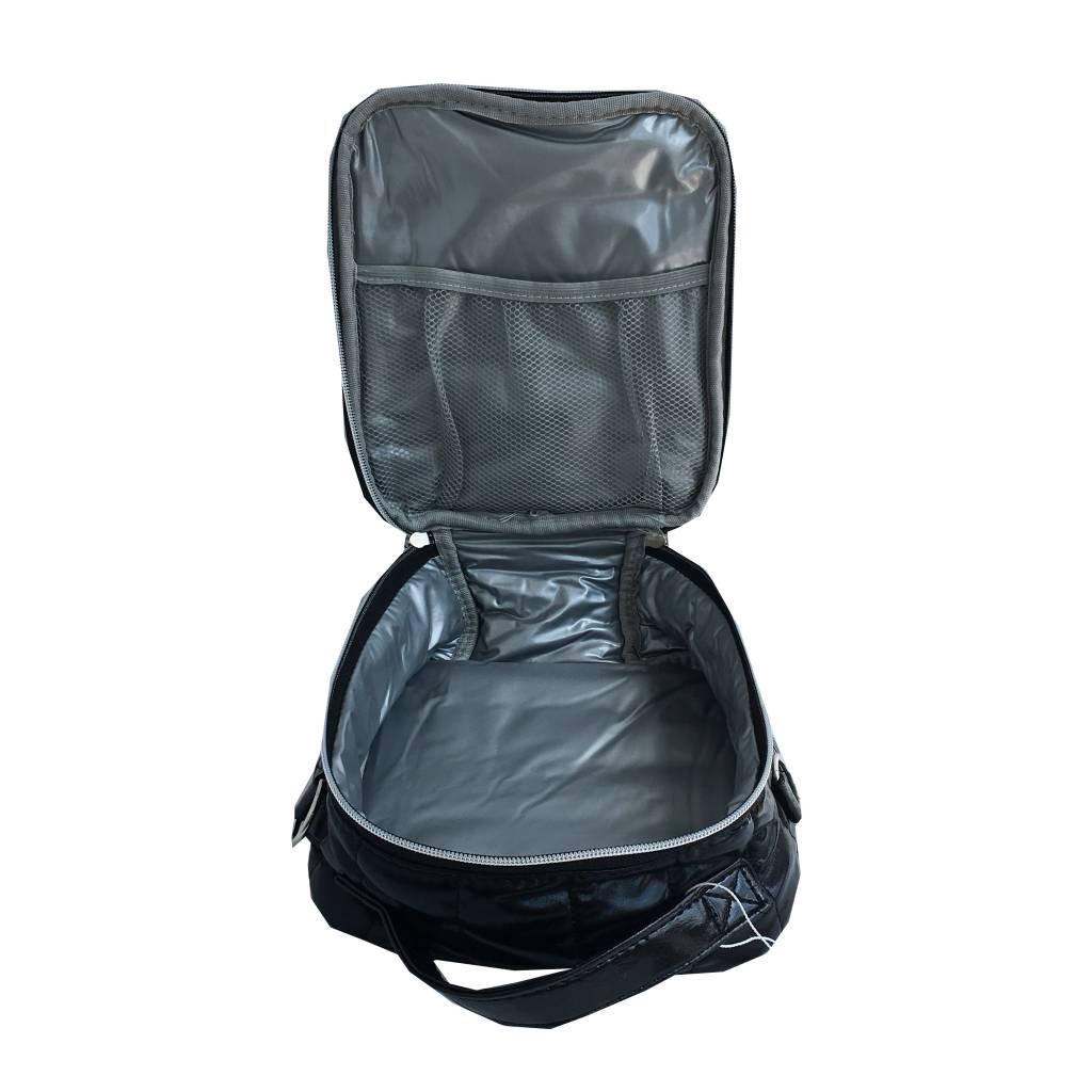 Bari Lynn Black Puffy Lunch Box