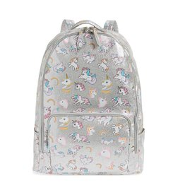 Bari Lynn Silver Unicorn Backpack