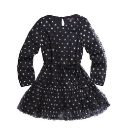Imoga Gold Dot Peplum Dress