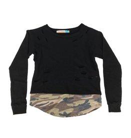 Vintage Havana Ripped Camo Sweatshirt
