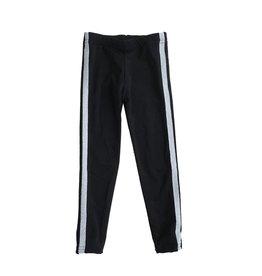 Dori Creations Silver Sports Stripe Legging