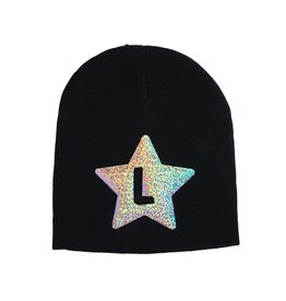 Custom Holographic Initial Star Hat