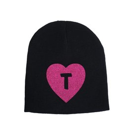 Custom Pink Initial Heart Hat