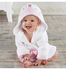 Baby Pink Crown Robe 0-9M