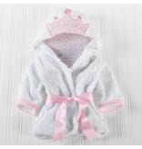 Baby Pink Crown Robe 0-9M