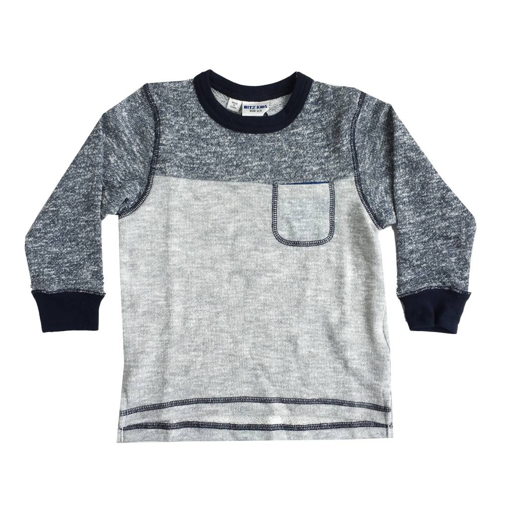 Bit'z Kids Mix Block Infant Sweatshirt