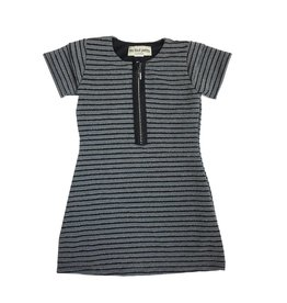 Les Tout Petits Striped Half Zip Dress