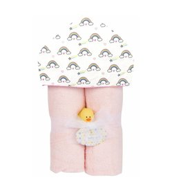 Baby Jar Rainbows Hooded Towel