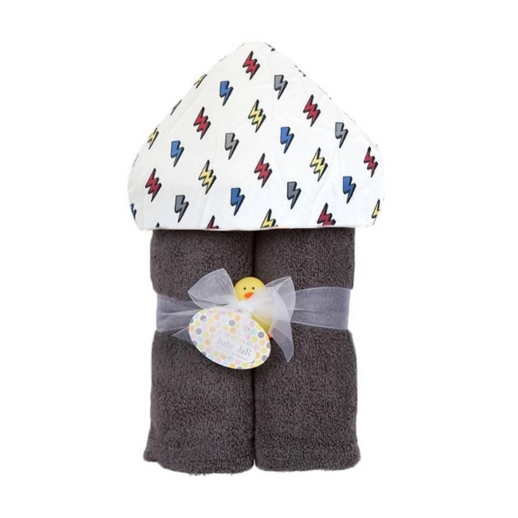 Baby Jar Lightning Bolt Hooded Towel