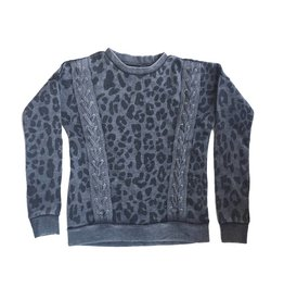 Vintage Havana Lace Up Leopard Sweatshirt