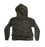 T2Love Ruffle Back Zip Hoody