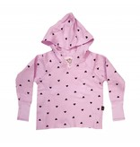 T2Love Scattered Hearts Cross Back Hoody