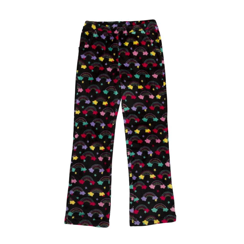 Candy Pink Spotty Rainbow Plush Pant