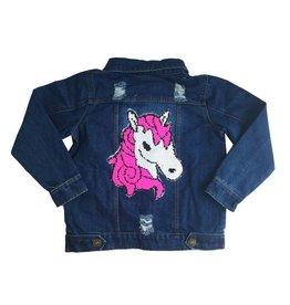 Lola Reverse Sequin Unicorn Denim Jacket