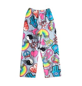 Love & Kisses Dripping Graffiti Plush Pant