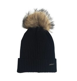 Bari Lynn Kids Natural Pom Pom Hat