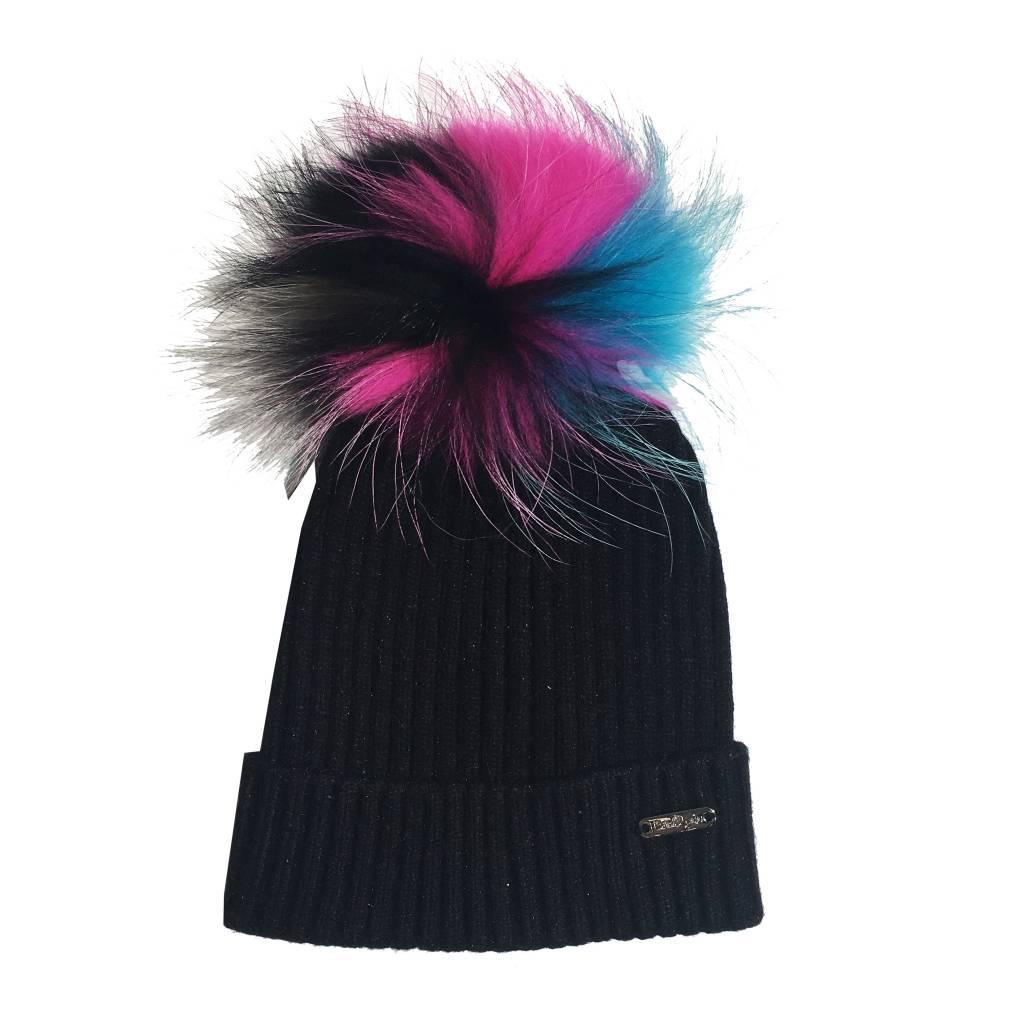 Bari Lynn Toddler Multi Pom Pom Hat