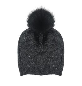 Bari Lynn Kids Slouch Pom Pom Hat (2 colors)