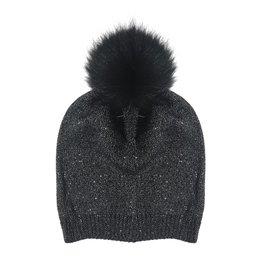 4038920924e Bari Lynn Kids Slouch Pom Pom Hat (2 colors)