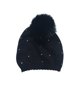 Bari Lynn Baby Crystal Pom Pom Hat