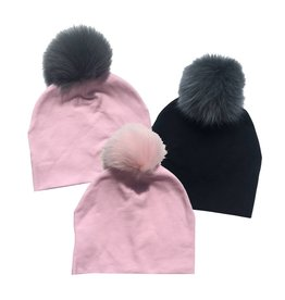 Bari Lynn Baby Cotton Pom Pom Hat (3 colors)