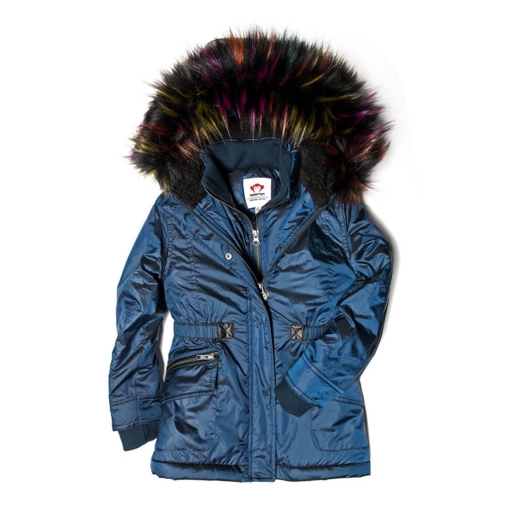 Appaman Multi Faux Fur Middie Coat