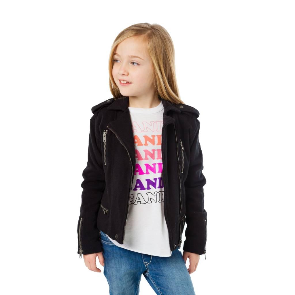 Chaser Cotton Fleece Moto Jacket