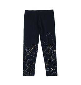 Silver & Gold Splatter Paint Legging
