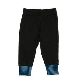 Small Change Turq Stripe Cuff Pant