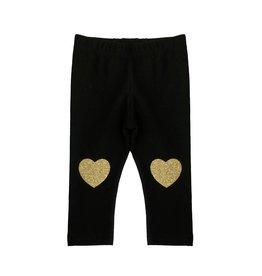 Small Change Gold Heart Knee Legging