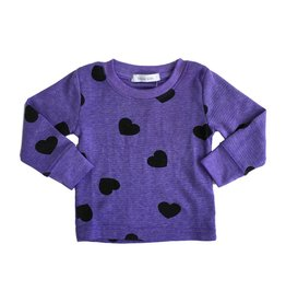 Little Mish Grape Hearts Thermal Top