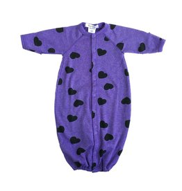 Little Mish Grape Hearts Thermal Gown NB