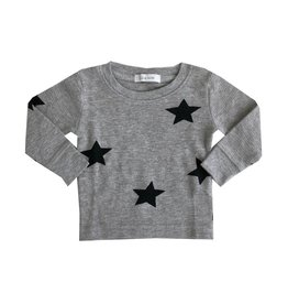 Little Mish Heather Stars Thermal Top