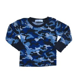 Little Mish Navy Camo Thermal Top