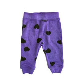 Little Mish Grape Hearts Thermal Pant